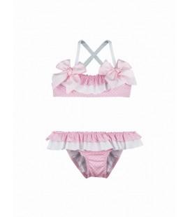 SARDON - Bikini rosa topitos para niña