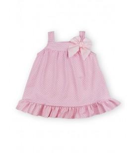 SARDON - Vestido rosa Topitos para niña