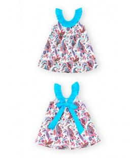 SARDON - Vestido turquesa Madeira para niña