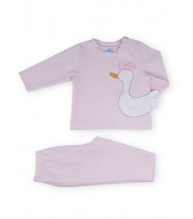 SARDON - Chandal Patito rosa para bebé