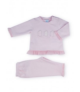 SARDON - Chandal Polos rosa para bebé