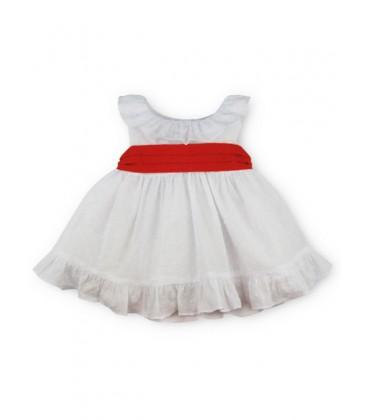 SARDON - Vestido Vera plumeti para bebé