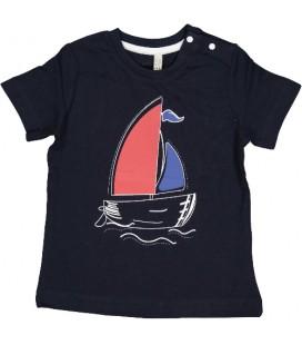 Birba - Camiseta marino barco para bebé