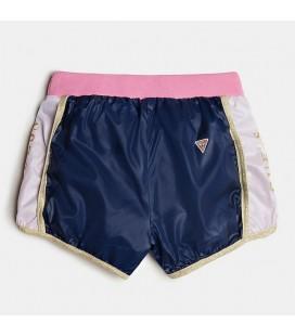 Guess - Shorts multicolor para niña