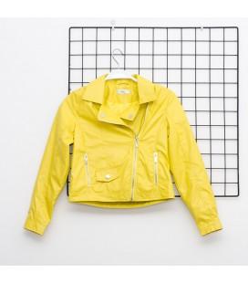 Y-Clu - Cazadora polipiel amarilla para niña