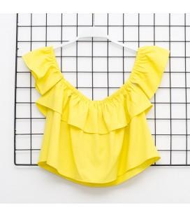 Y-Clu - Top amarillo para niña