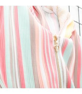 Y-Clu - Sudadera plisada multicolor para niña
