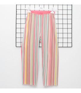 Y-Clu - Pantalón plisado multicolor
