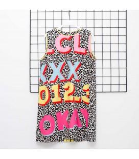 Y-Clu - Vestido animal print para niña
