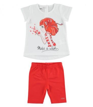 iDo by Miniconf - Conjunto legging rojo y camiseta para niña