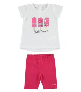 iDo by Miniconf - Conjunto legging fucsia y camiseta para niña
