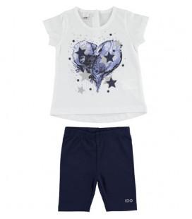 iDo by Miniconf - Conjunto legging azul y camiseta para niña