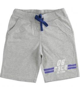 iDo by Miniconf - Bermuda algodón gris claro para niño