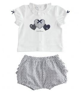 iDo by Miniconf - Conjunto blanco y marino para bebé