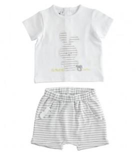 iDo by Miniconf - Conjunto blanco y gris para bebé