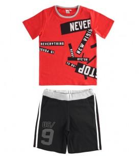 iDo by Miniconf - Conjunto rojo y negro para niño
