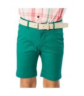 Spagnolo - Bermuda básica verde para niño