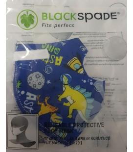 Black Spade - Mascarilla higiénica infantil - Astronautas