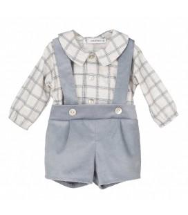 Calamaro Baby - Conjunto Stefano azul para bebé