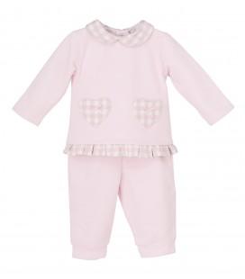 Calamaro Baby - Chandal cuadros rosa para bebé