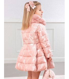 Abel&Lula - Abrigo fil coupe rosa para niña