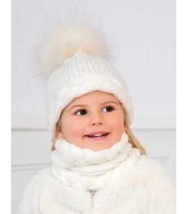 Abel&Lula - Conjunto gorro, bufanda y guantes para niña