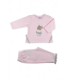 SARDON - Chandal Osa rosa para bebé