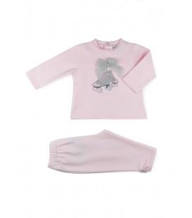 SARDON - Chandal Patines rosa para bebé