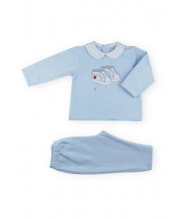 SARDON - Chandal Zapatillas celeste para bebé