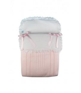 SARDON - Saco de punto con tira bordada rosa