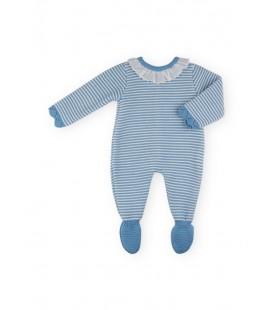 SARDON - Pelele de punto Nina azulado para niña