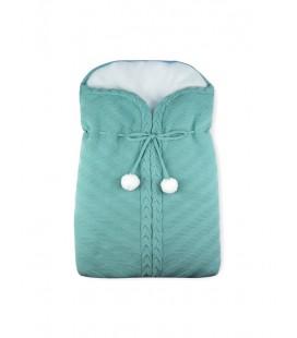 SARDON - Saco de punto ochos pompones para bebé