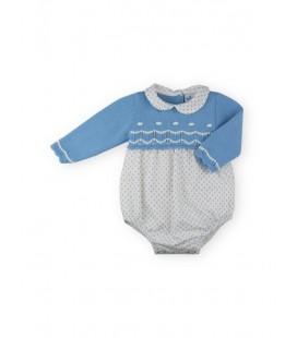 SARDON - Pelele Iris azulado para bebé