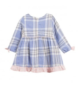 Newness - Vestido cuadros celeste para bebé