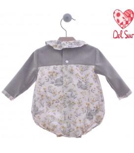 Del Sur - Pelele Niebla gris para bebé