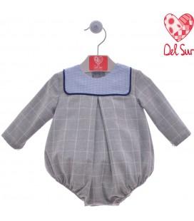 Del Sur - Pelele Hielo gris para bebé
