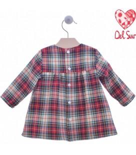 Del Sur - Vestido rojo Trineo para bebé