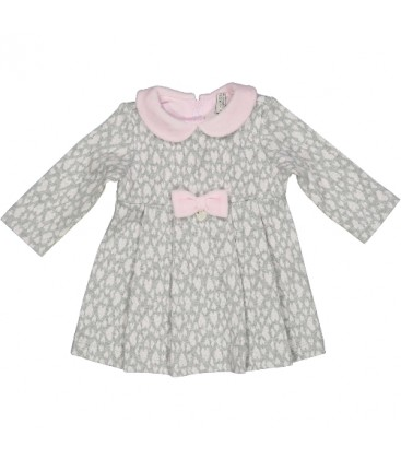 Birba - Vestido gris para bebé