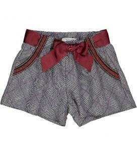Trybeyond - Shorts pata de gallo para niña