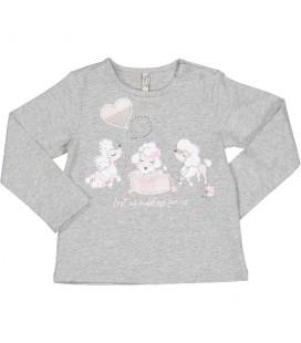 Birba - Camiseta gris para bebé