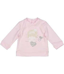 Birba - Camiseta rosa para bebé