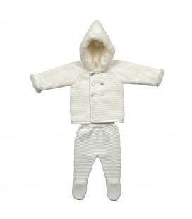 Martín Aranda - Conjunto punto Orion blanco roto para bebé