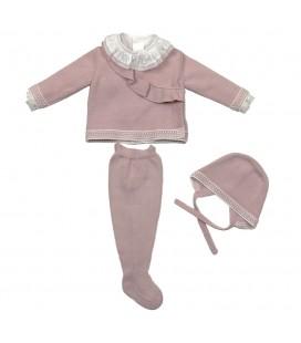 Martín Aranda - Conjunto Shalma rosa para bebé