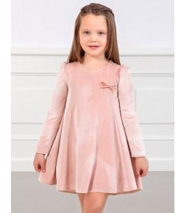 Abel&Lula - Vestido terciopelo rosa para niña