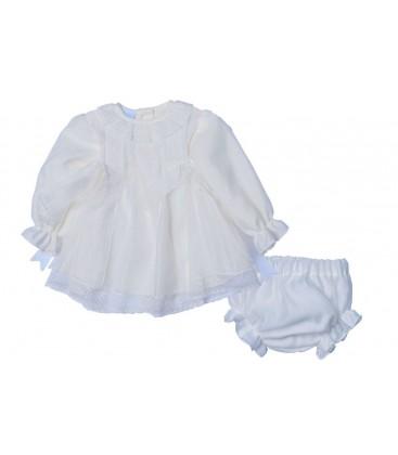 Granlei - Vestido + braguita beige para bebé