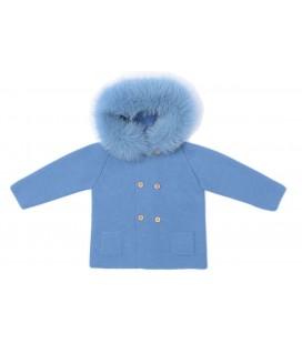 Granlei - Trenca de punto azul para bebé