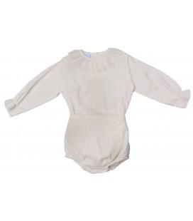 Granlei - Conjunto de ceremonia beige para bebé