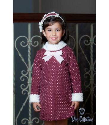 DBB Collection - Vestido granate para niña