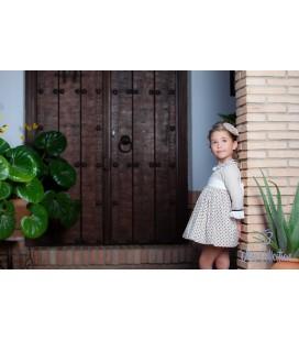 DBB Collection - Vestido tostado con lazo para niña