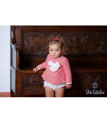DBB Collection - Vestido + braguita rojo para bebé